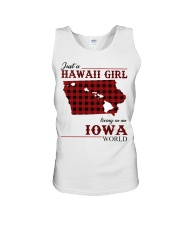 Just A Hawaii Girl In iowa Unisex Tank thumbnail