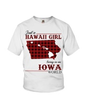 Just A Hawaii Girl In iowa Youth T-Shirt tile