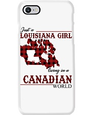 Just A Louisiana Girl In Canadian World Phone Case thumbnail