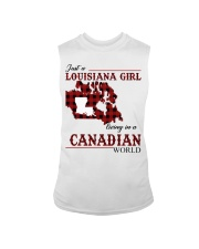 Just A Louisiana Girl In Canadian World Sleeveless Tee tile