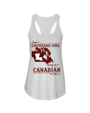 Just A Louisiana Girl In Canadian World Ladies Flowy Tank thumbnail