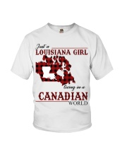 Just A Louisiana Girl In Canadian World Youth T-Shirt thumbnail