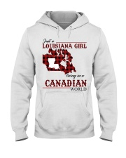 Just A Louisiana Girl In Canadian World Hooded Sweatshirt tile