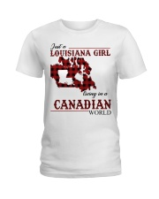 Just A Louisiana Girl In Canadian World Ladies T-Shirt thumbnail