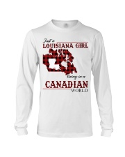 Just A Louisiana Girl In Canadian World Long Sleeve Tee tile
