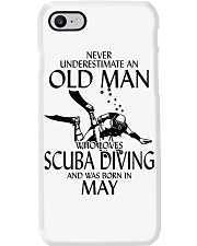 Never Underestimate Old Man Scuba Diving May Phone Case thumbnail
