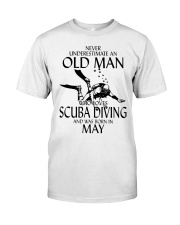 Never Underestimate Old Man Scuba Diving May Classic T-Shirt front