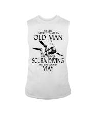 Never Underestimate Old Man Scuba Diving May Sleeveless Tee thumbnail