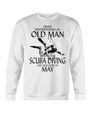 Never Underestimate Old Man Scuba Diving May Crewneck Sweatshirt thumbnail