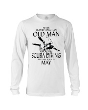 Never Underestimate Old Man Scuba Diving May Long Sleeve Tee thumbnail