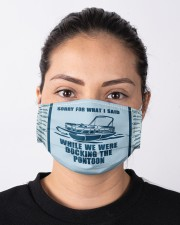 Pontoon Sorry For What I Said Cloth face mask aos-face-mask-lifestyle-01