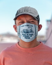 Pontoon Sorry For What I Said Cloth face mask aos-face-mask-lifestyle-06