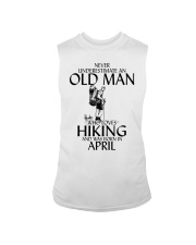 Never Underestimate Old Man Hiking April Sleeveless Tee thumbnail