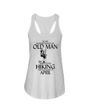 Never Underestimate Old Man Hiking April Ladies Flowy Tank thumbnail