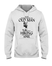 Never Underestimate Old Man Hiking April Hooded Sweatshirt thumbnail