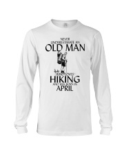 Never Underestimate Old Man Hiking April Long Sleeve Tee thumbnail