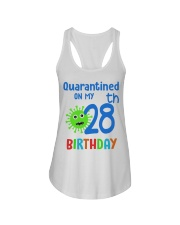Quarantined On 28th My Birthday 28 Ladies Flowy Tank tile