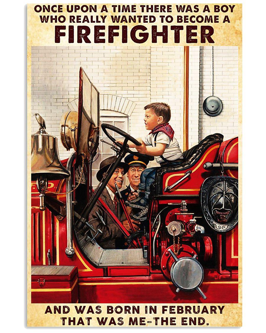 February Firefighter 24x36 Poster