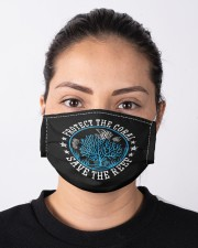 Environmental saying diver protect the coral Cloth face mask aos-face-mask-lifestyle-01