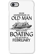 Never Underestimate Old Man Boating February Phone Case thumbnail