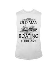 Never Underestimate Old Man Boating February Sleeveless Tee thumbnail