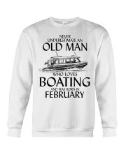 Never Underestimate Old Man Boating February Crewneck Sweatshirt thumbnail