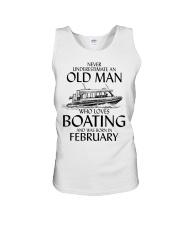 Never Underestimate Old Man Boating February Unisex Tank thumbnail