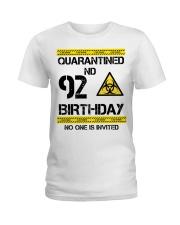 92nd Birthday 92 Years Old Ladies T-Shirt thumbnail