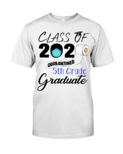 Class Of 2020 Quarantined 5th Grade Graduate Classic T-Shirt front