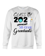 Class Of 2020 Quarantined 5th Grade Graduate Crewneck Sweatshirt tile