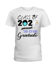 Class Of 2020 Quarantined 5th Grade Graduate Ladies T-Shirt tile
