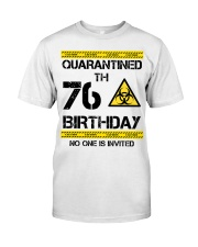 76th Birthday 76 Years Old Classic T-Shirt front