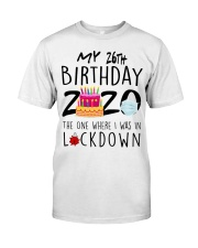 26th Birthday 26 Years Old Classic T-Shirt front