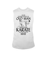 Never Underestimate  Old Man Karate May Sleeveless Tee thumbnail