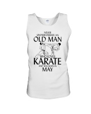 Never Underestimate  Old Man Karate May Unisex Tank thumbnail