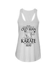 Never Underestimate  Old Man Karate May Ladies Flowy Tank thumbnail