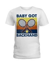 Baby Got Backhand-Tennis Ladies T-Shirt tile
