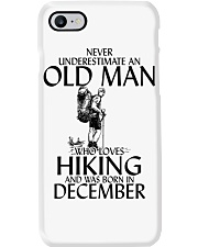 Never Underestimate Old Man Hiking December Phone Case thumbnail