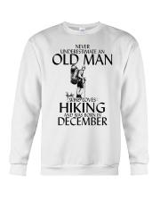 Never Underestimate Old Man Hiking December Crewneck Sweatshirt thumbnail