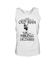 Never Underestimate Old Man Hiking December Unisex Tank thumbnail