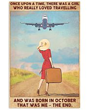 Girl Loves Travelling Born In October 24x36 Poster front
