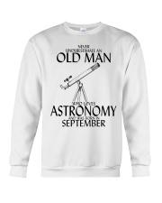 Never Underestimate Old Man Astronomy September  Crewneck Sweatshirt thumbnail