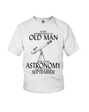 Never Underestimate Old Man Astronomy September  Youth T-Shirt thumbnail