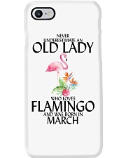 Never Underestimate Old Lady Flamingo March Phone Case thumbnail