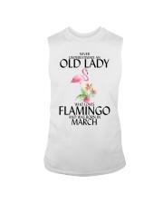 Never Underestimate Old Lady Flamingo March Sleeveless Tee thumbnail