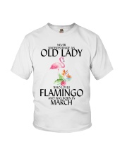 Never Underestimate Old Lady Flamingo March Youth T-Shirt thumbnail