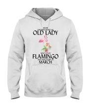 Never Underestimate Old Lady Flamingo March Hooded Sweatshirt thumbnail