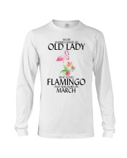 Never Underestimate Old Lady Flamingo March Long Sleeve Tee thumbnail