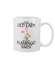 Never Underestimate Old Lady Flamingo March Mug thumbnail