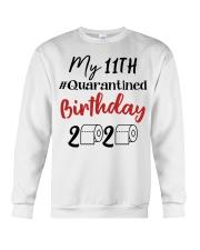 11th Birthday Quarantined 11 Year Old Crewneck Sweatshirt thumbnail